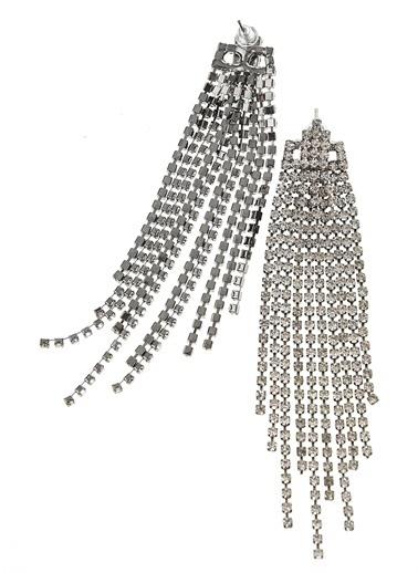 Monamoda Sallantılı Taşlı Küpe Gümüş